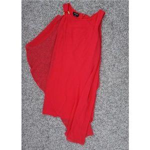 bebe (BB) Maline Asymmetric Flutter Sleeve Dress